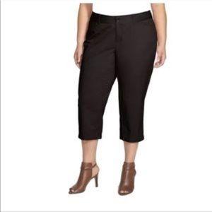 Nordstrom Sejour Addison Crop Pants Black Size 20W